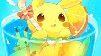 Pikachu in a summer vacation