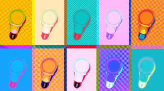 Light Bulb w Halftone