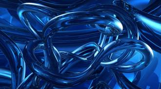 blue metal squigles