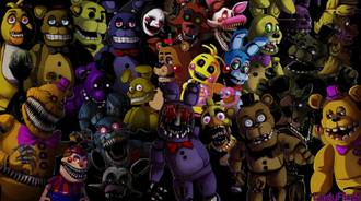 All FNaF Animatronics Together