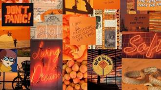 Aesthetic Orange Collage (series)