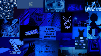 Dark Blue Collage (series)