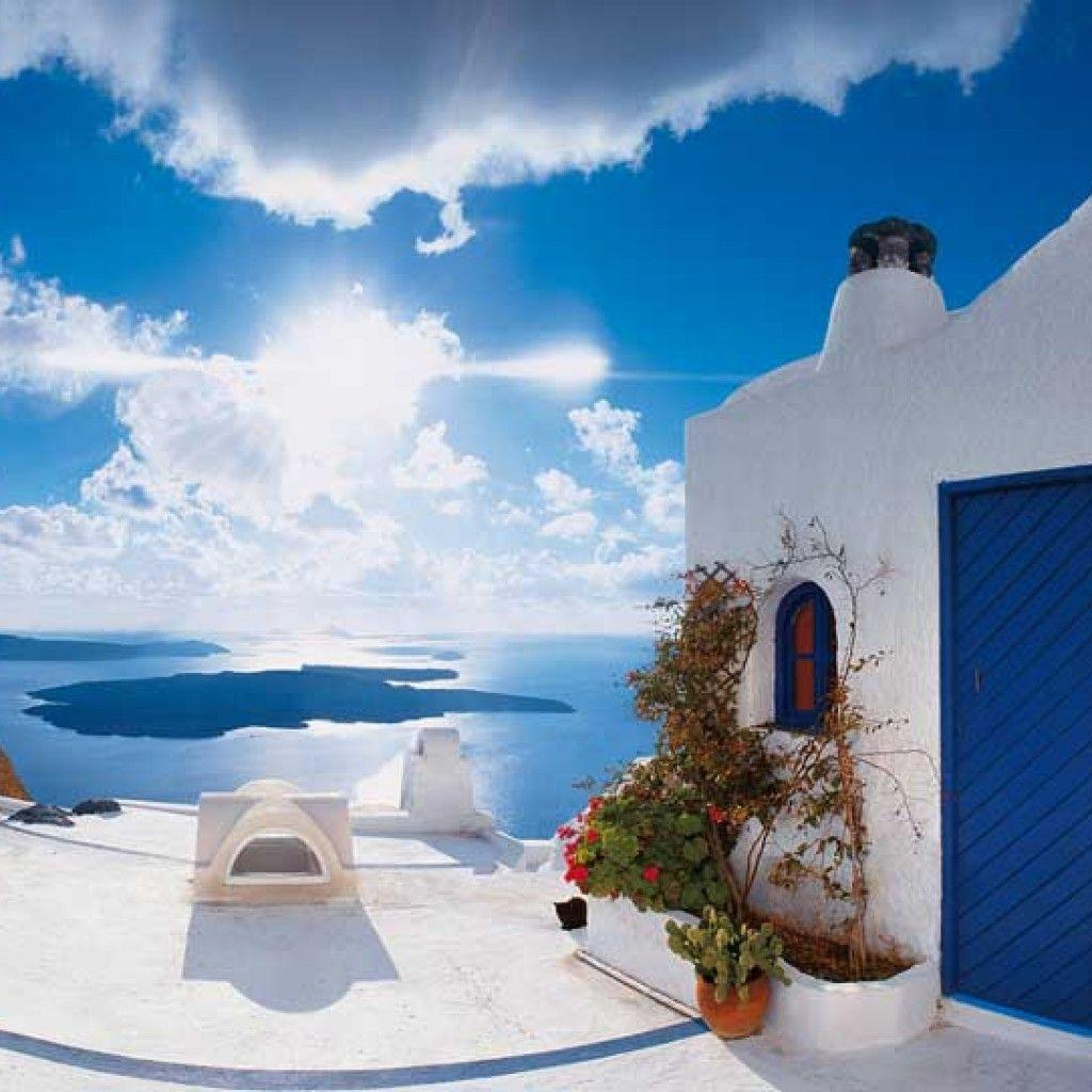 Santorini Wallpapers Mural