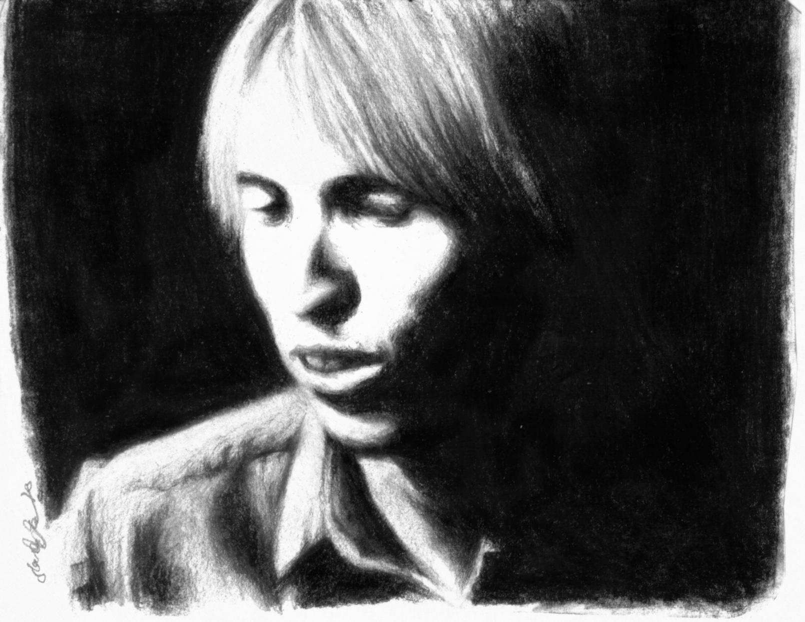 Tom Petty Portrait in Charocal by dwightyoakamfan on DeviantArt