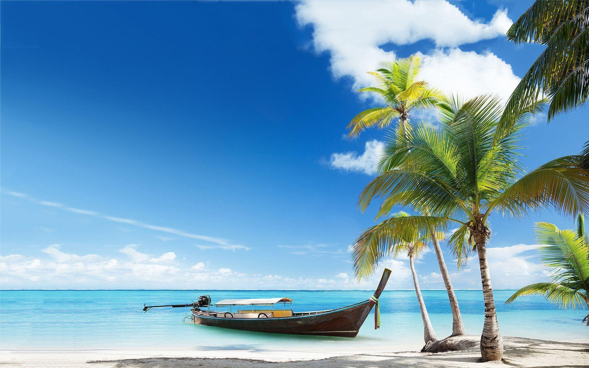Hd Tropical Island Beach Paradise Wallpapers And Backgrounds: Tropical Beach Desktop Backgrounds