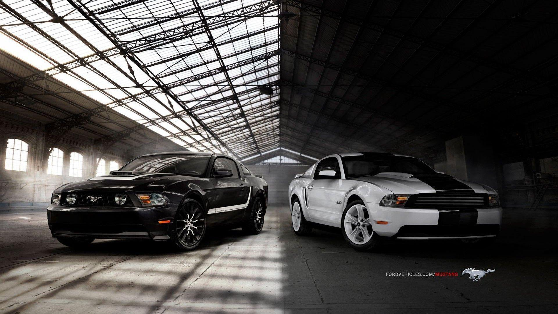 Ford mustang gt black white wallpaper free download wallpaper