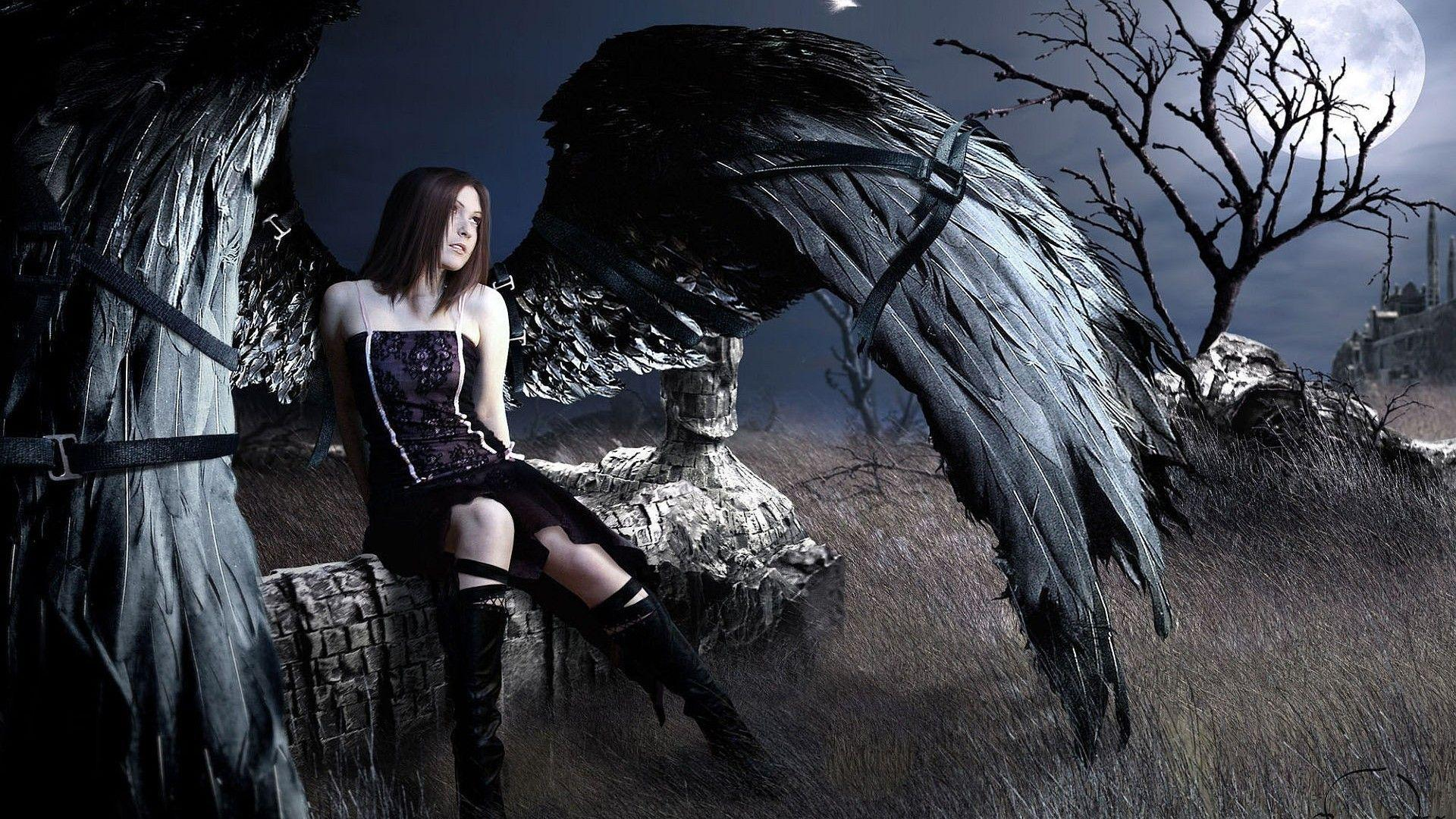gothic girls wallpaper by - photo #46