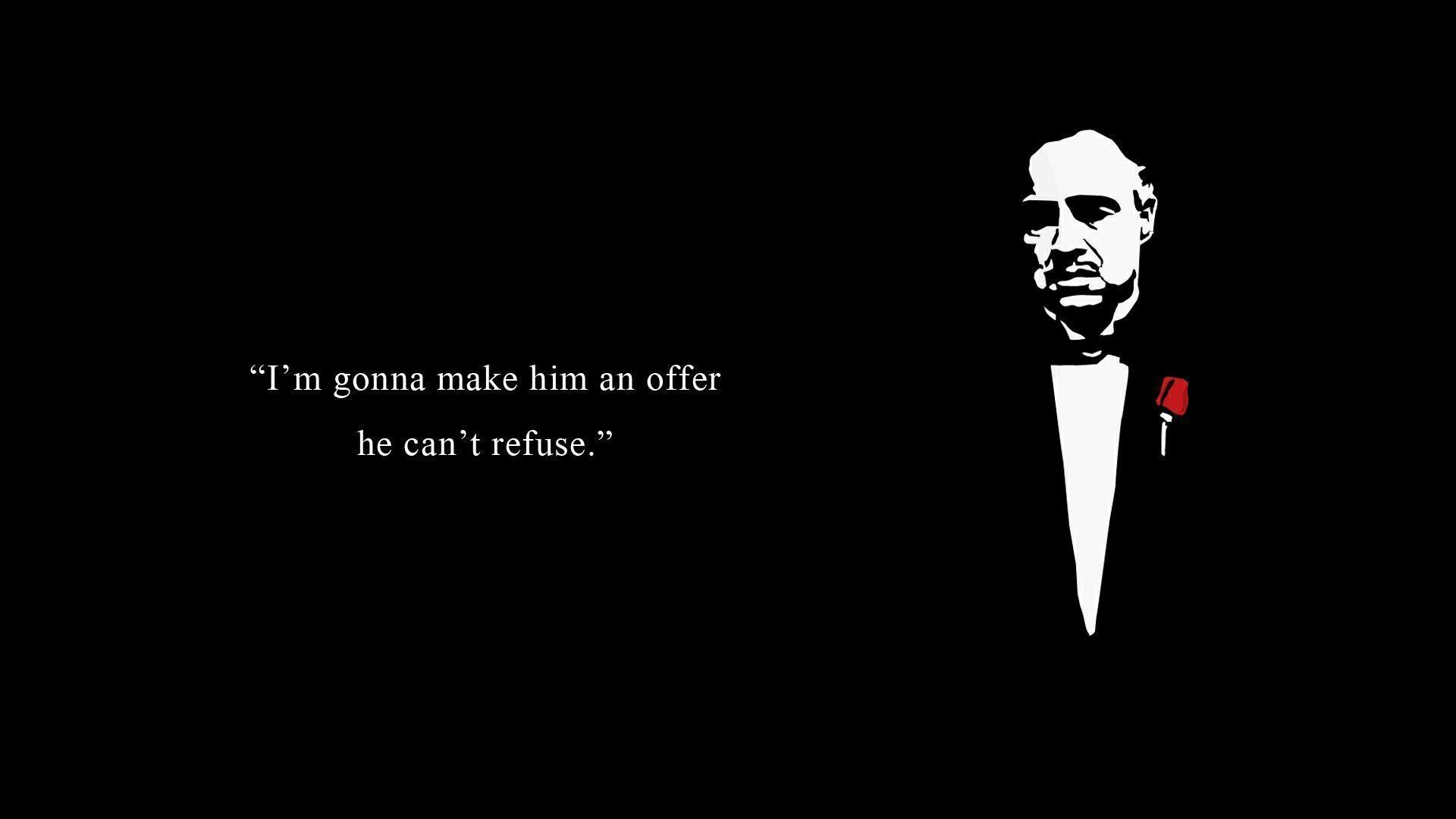 Godfather Movie Gang Mafia Entertainment Wallpaper