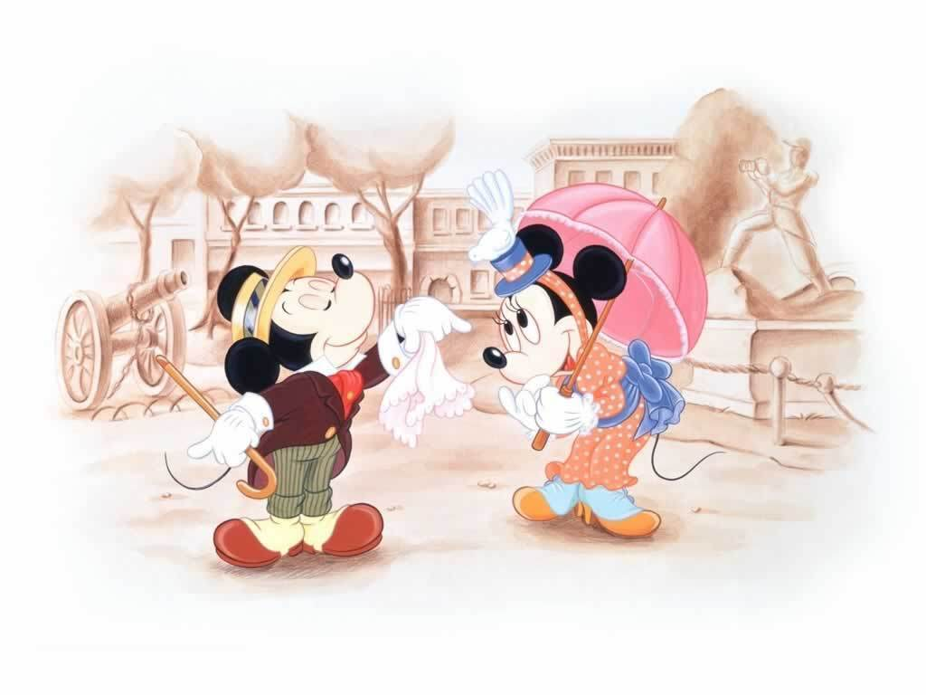 Wallpapers For > Mickey And Minnie Mouse Wallpaper In Love