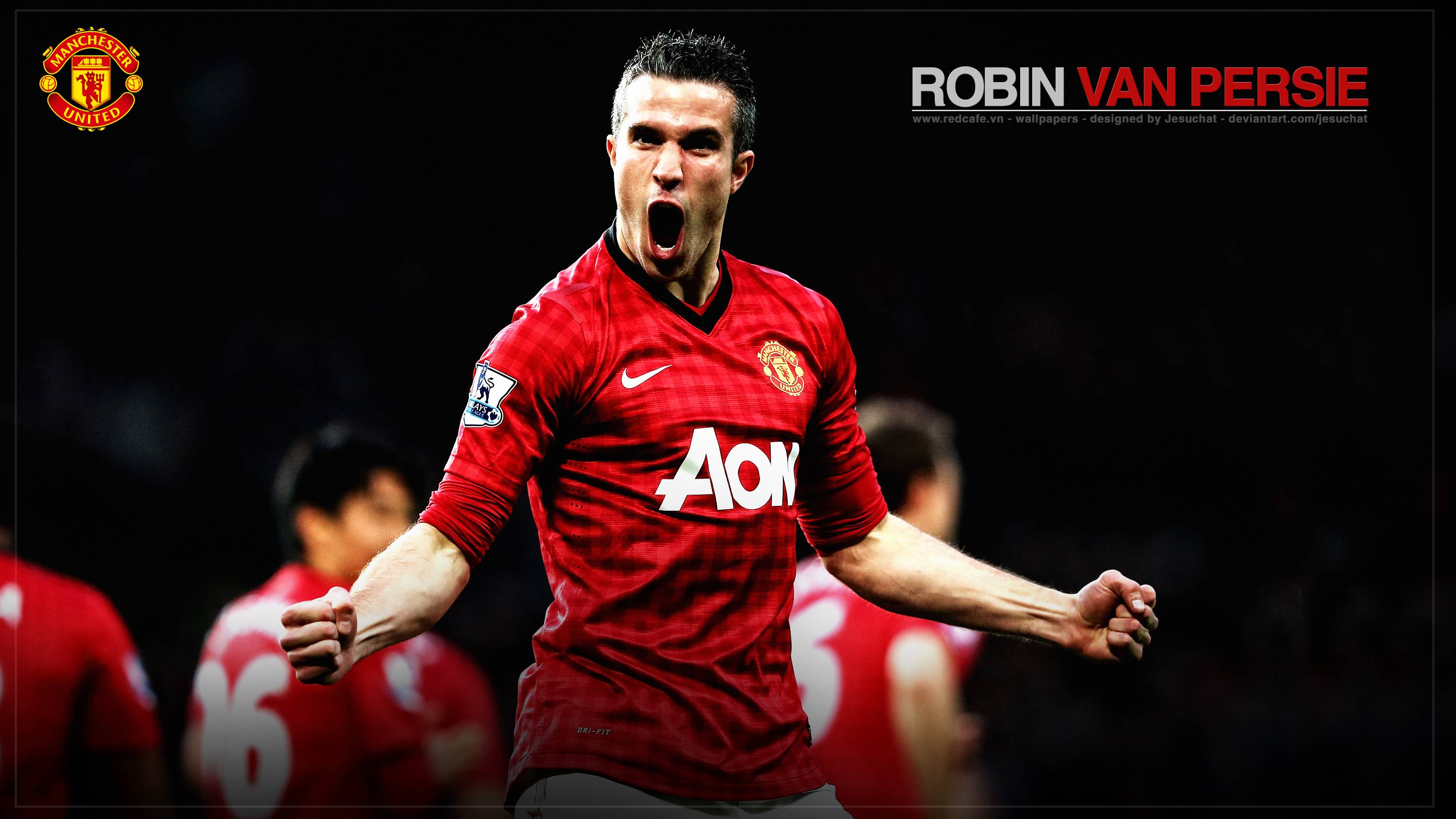 Robin van Persie Manchester united football high quality