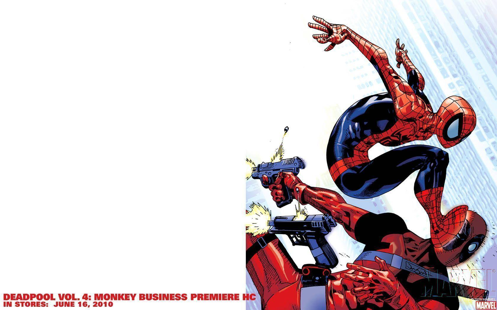 Wallpapers For > Deadpool Spiderman Wallpapers