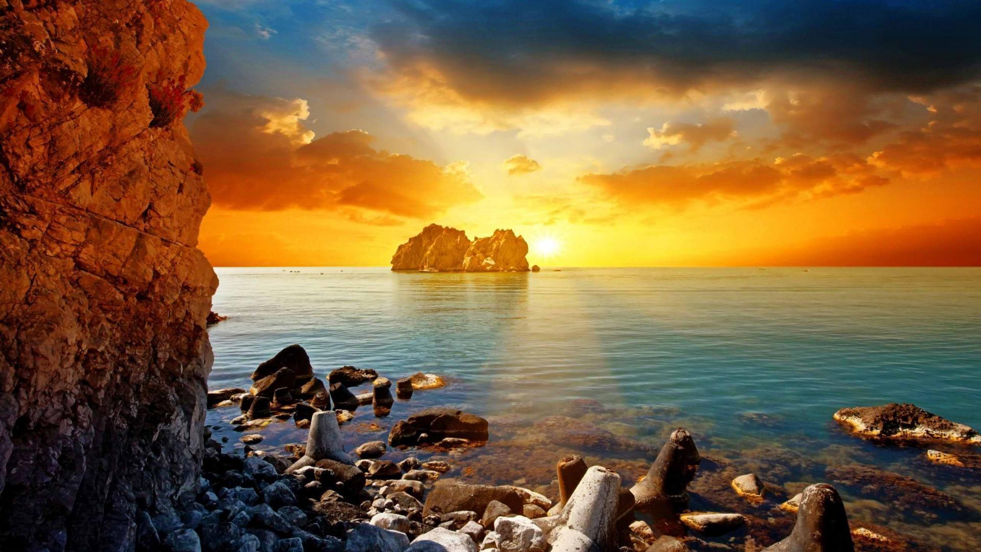sunset beach images hd wallpaper desktop backgrounds free