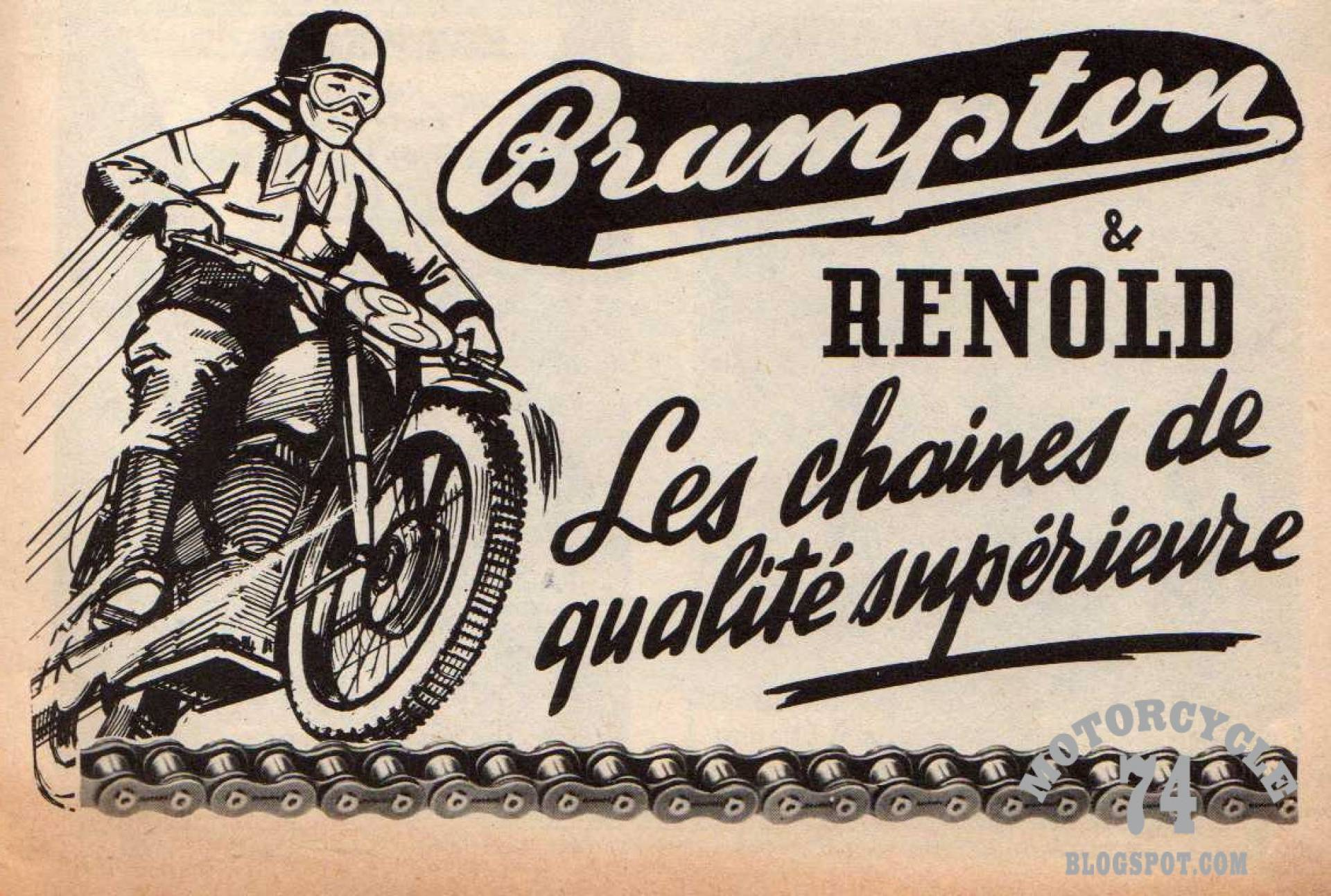 Motorcycle 74 brampton renold motorcycle chains vintage