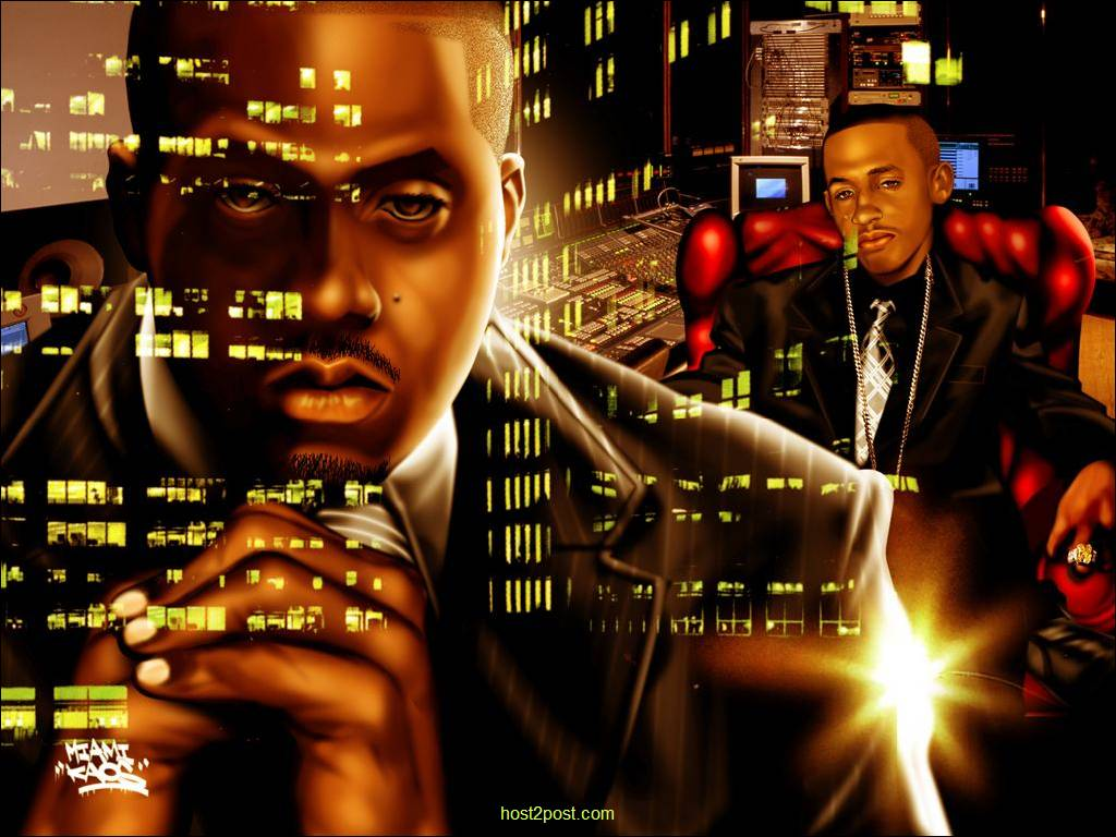 rapper wallpapers nas nasir jones art drawings rappers HD Wallpap