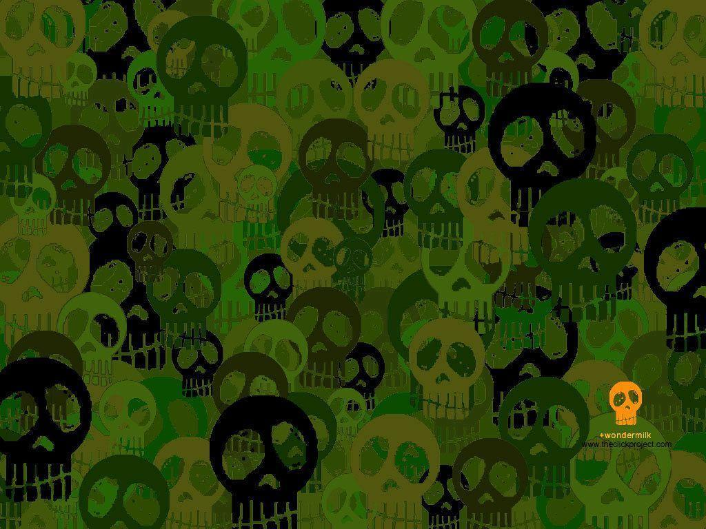 Green Skull Pictures and Wallpapers