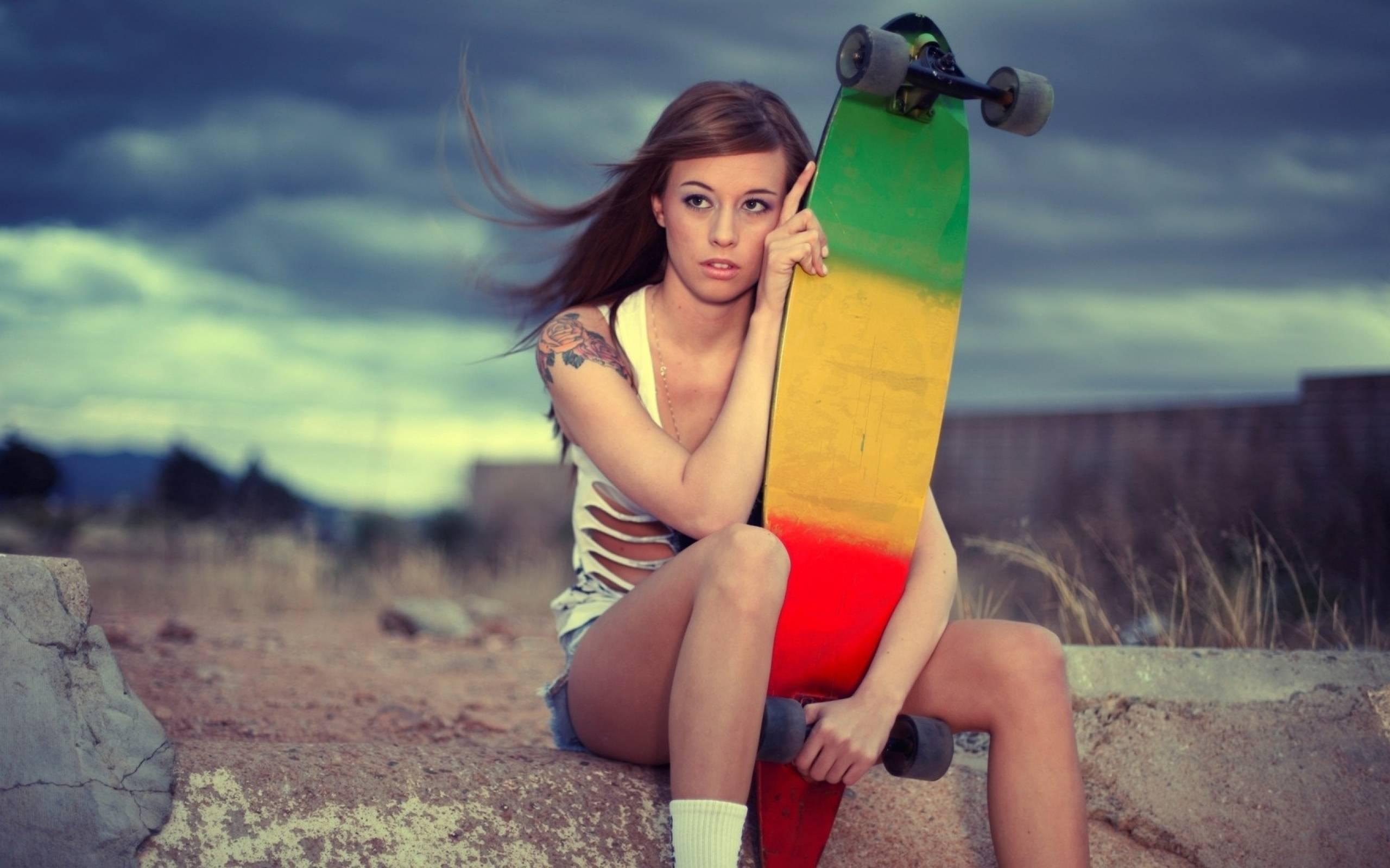 Skateboard Girls Wallpapers Wallpaper Cave