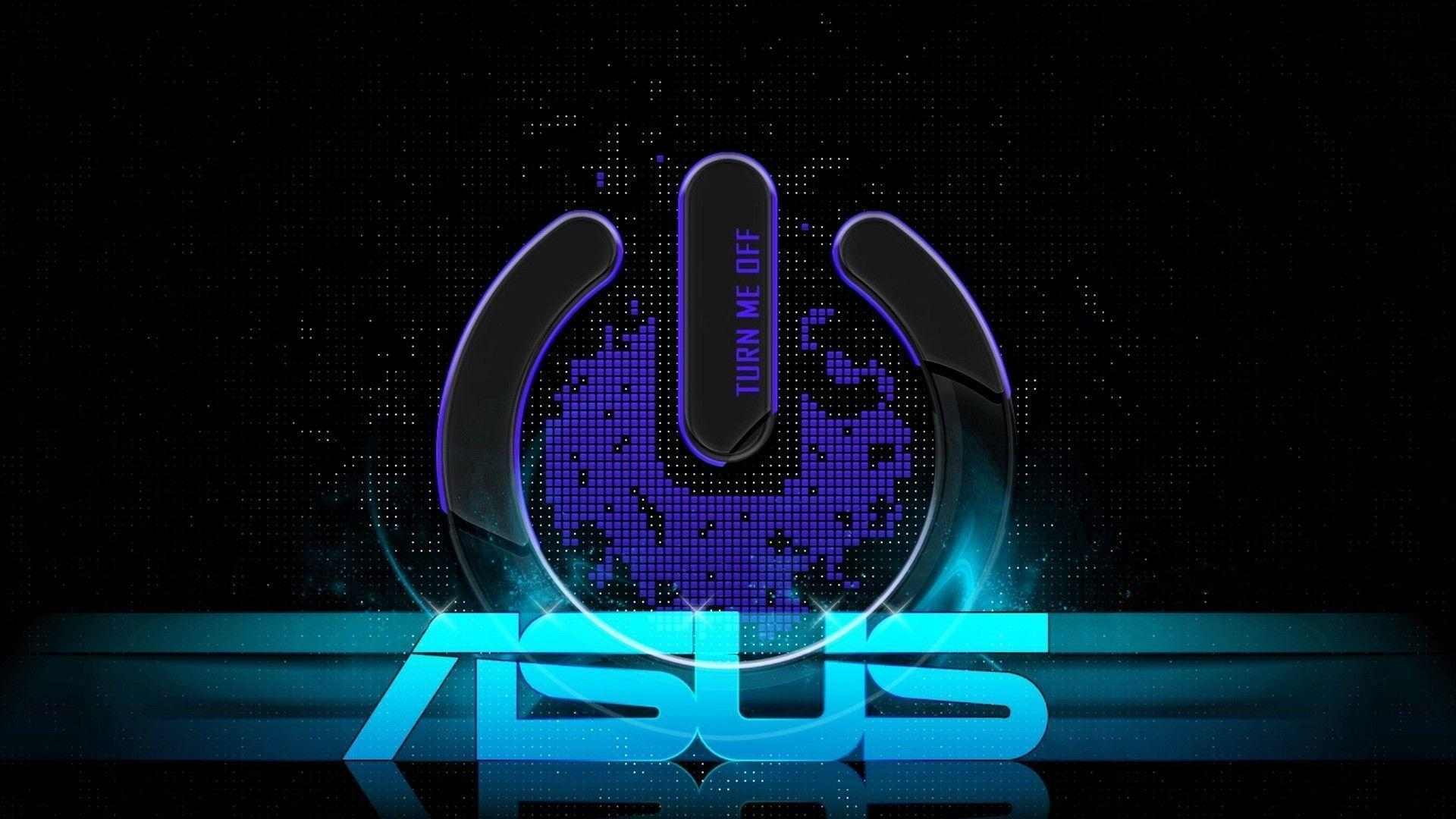Blue Asus Logo Black Backgrounds Wallpapers