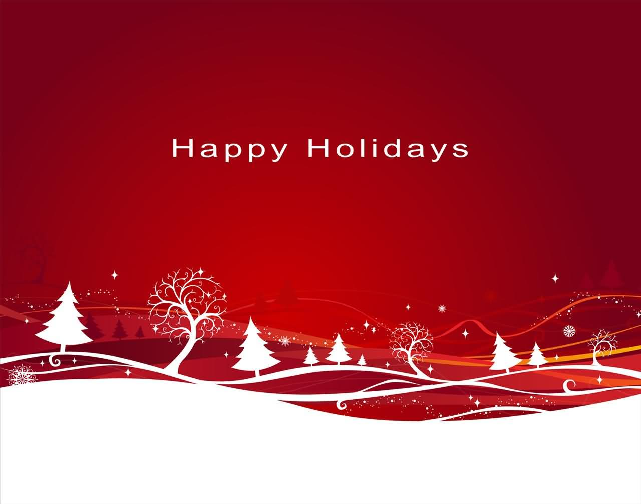 Happy Holidays Background Wallpaper