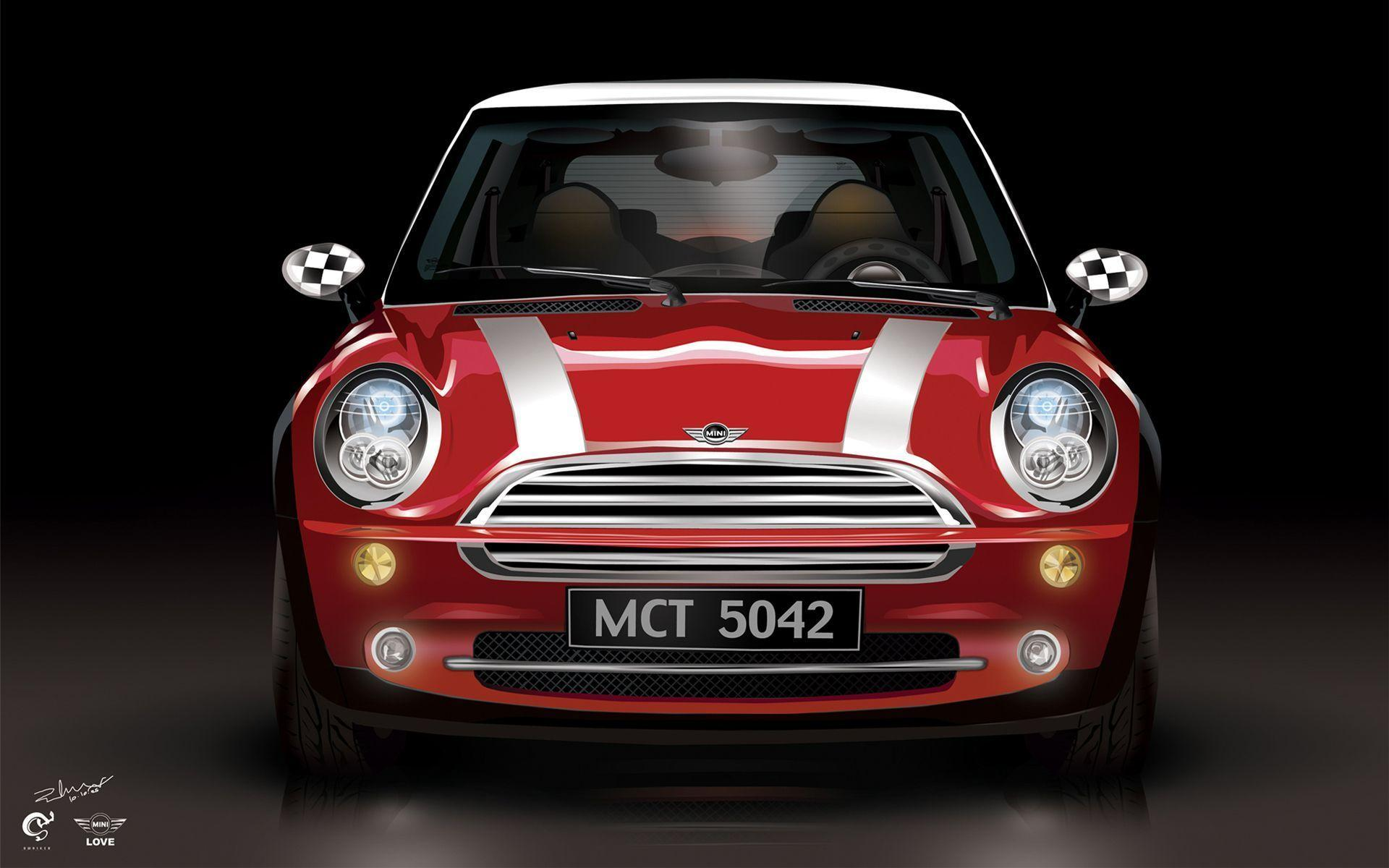Red Color Mini Cooper Wallpapers