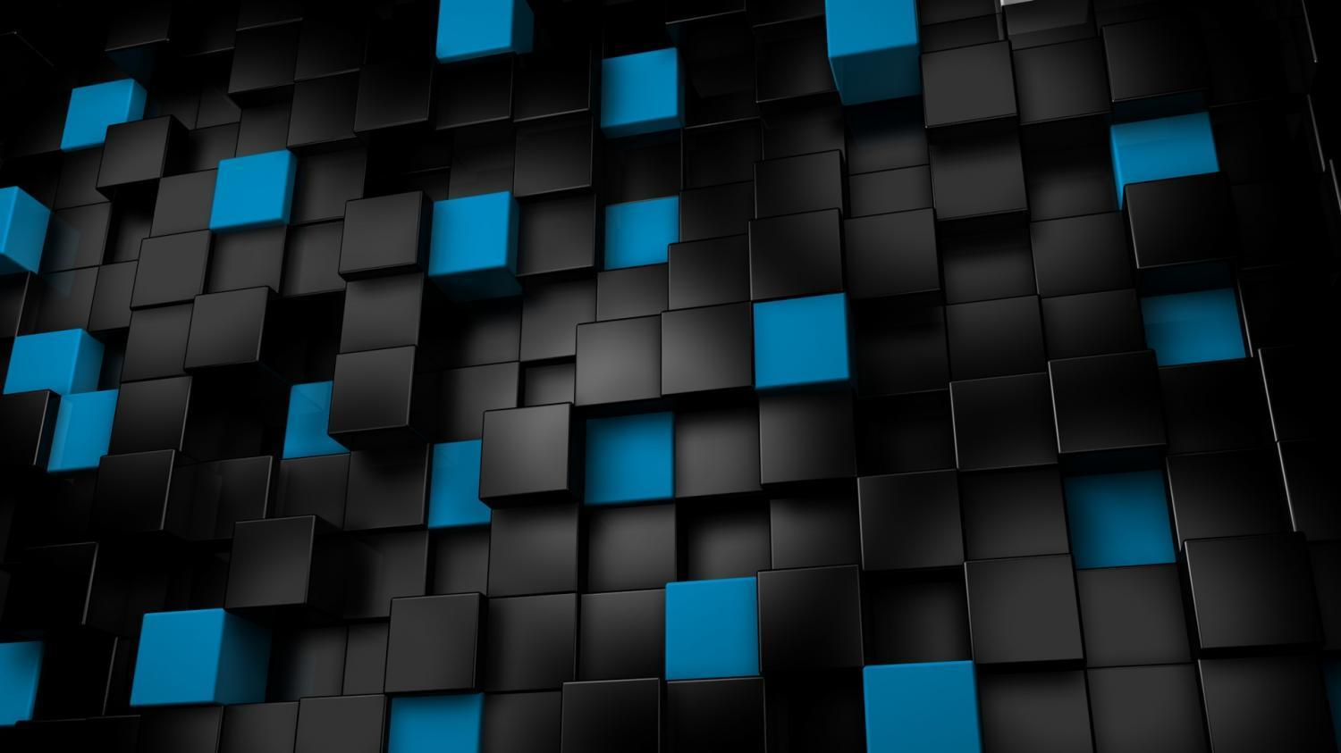 Blue 3D Cubes Wallpapers for Android