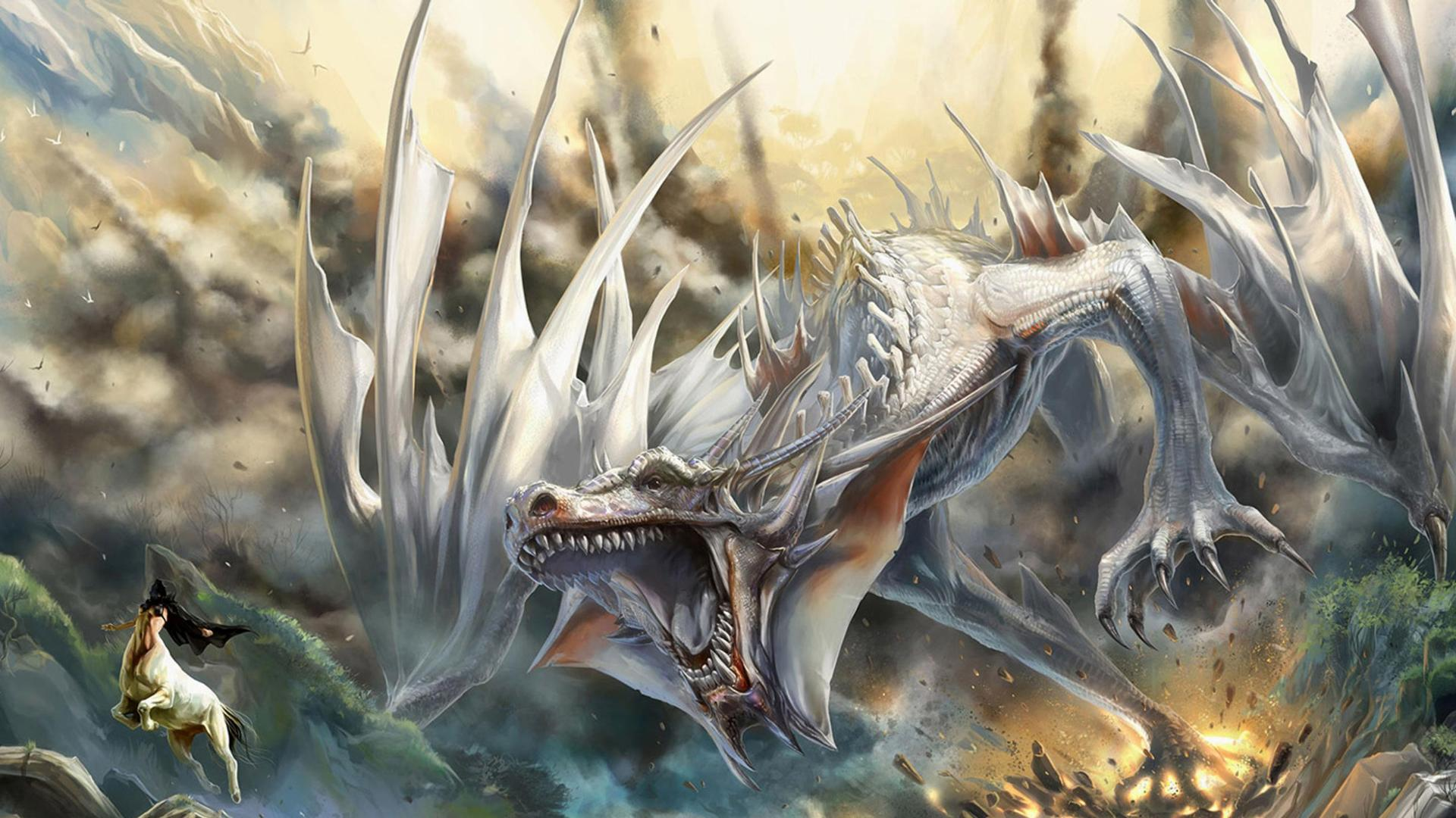 White Dragon Wallpapers  Wallpaper Cave
