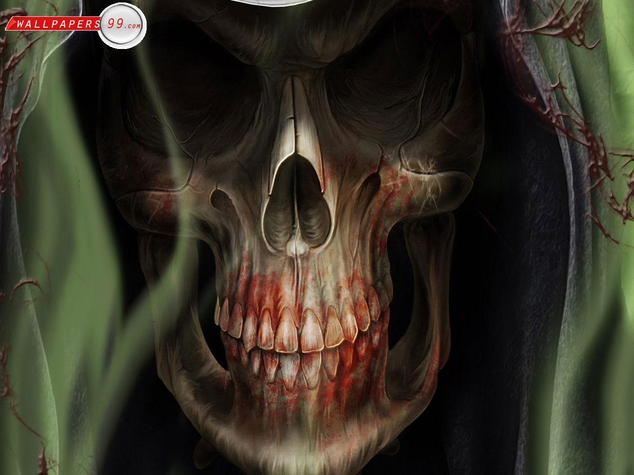 Scary Skull Wallpapers - Wallpaper Cave  Scary Skull Wal...