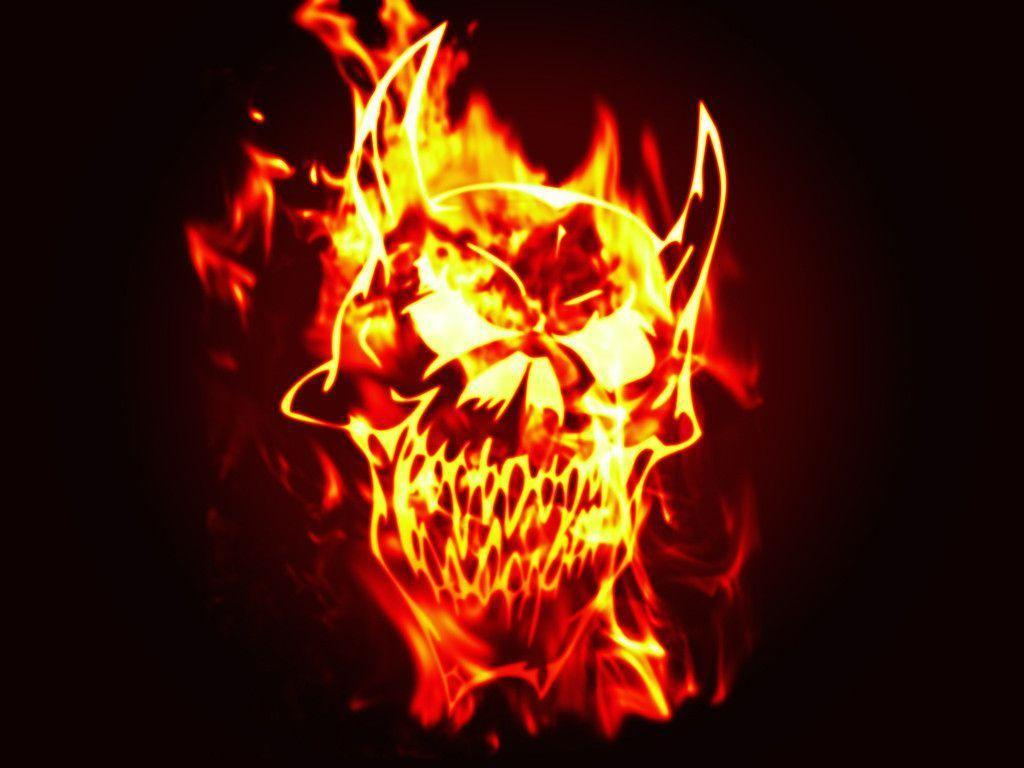 Fire Skull Wallpapers Wallpaper Cave