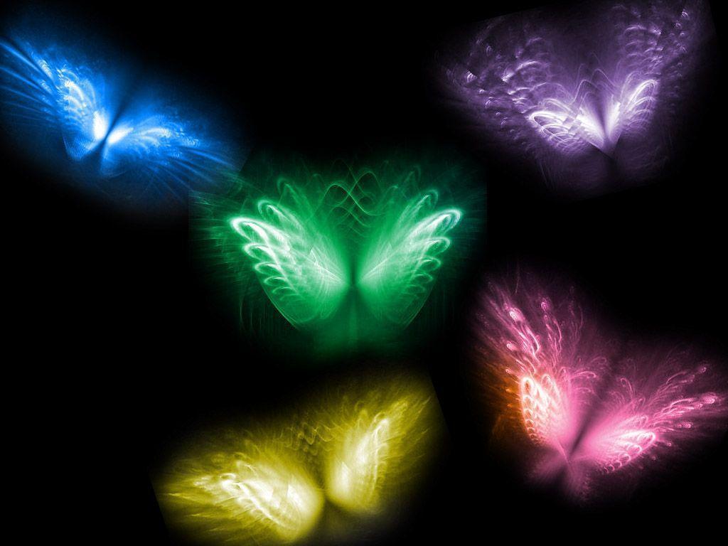 Cool Butterfly Backgro... Neon Butterfly Wallpaper