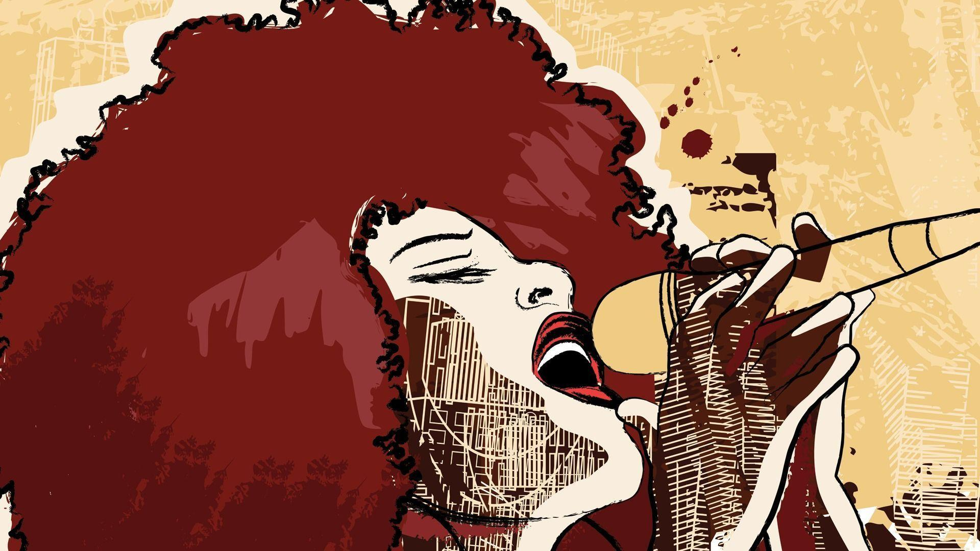 Jazz Singer Music Wallpaper Pc #13418 Wallpaper | Wallpaper Screen ...