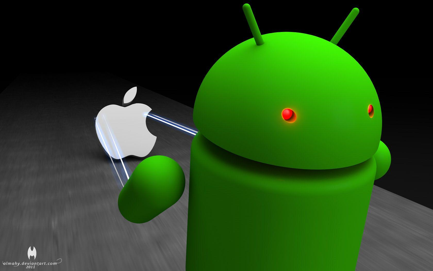 apple vs android wallpapers wallpaper cave