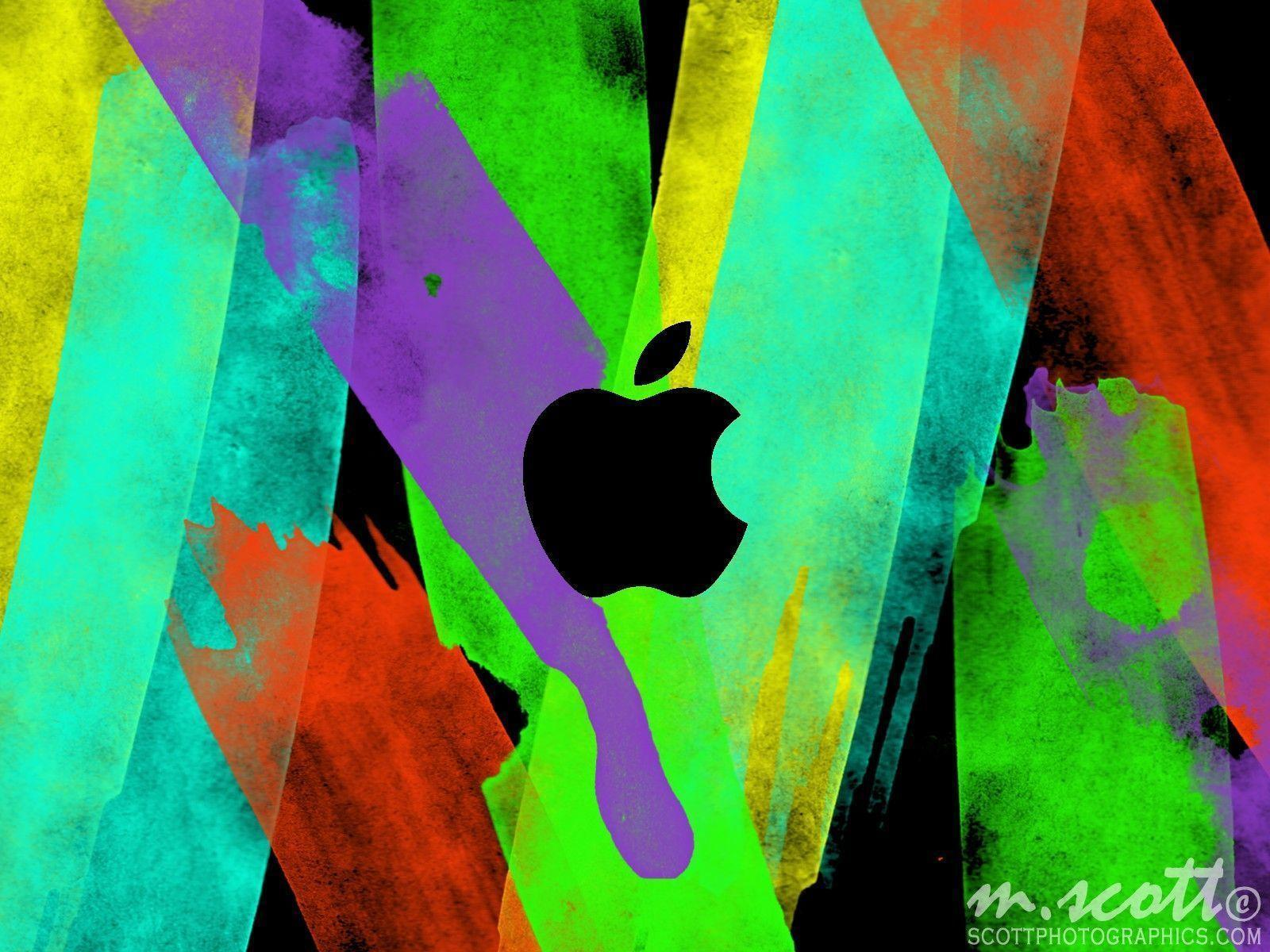 Wallpapers For > Cool Apple Logo Wallpaper