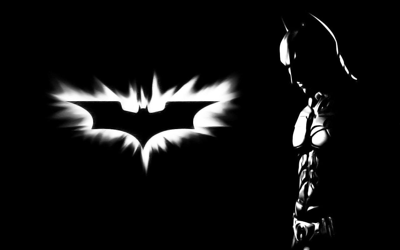 Wallpapers For > Black Batman Logo Wallpaper