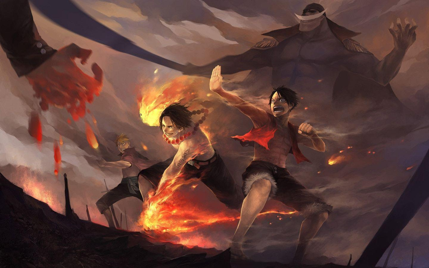 ace and luffy fighting wallpaper -#main