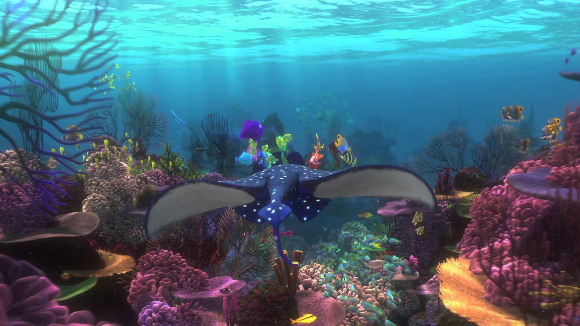Finding nemo backgrounds wallpaper cave for Fish tank trailer