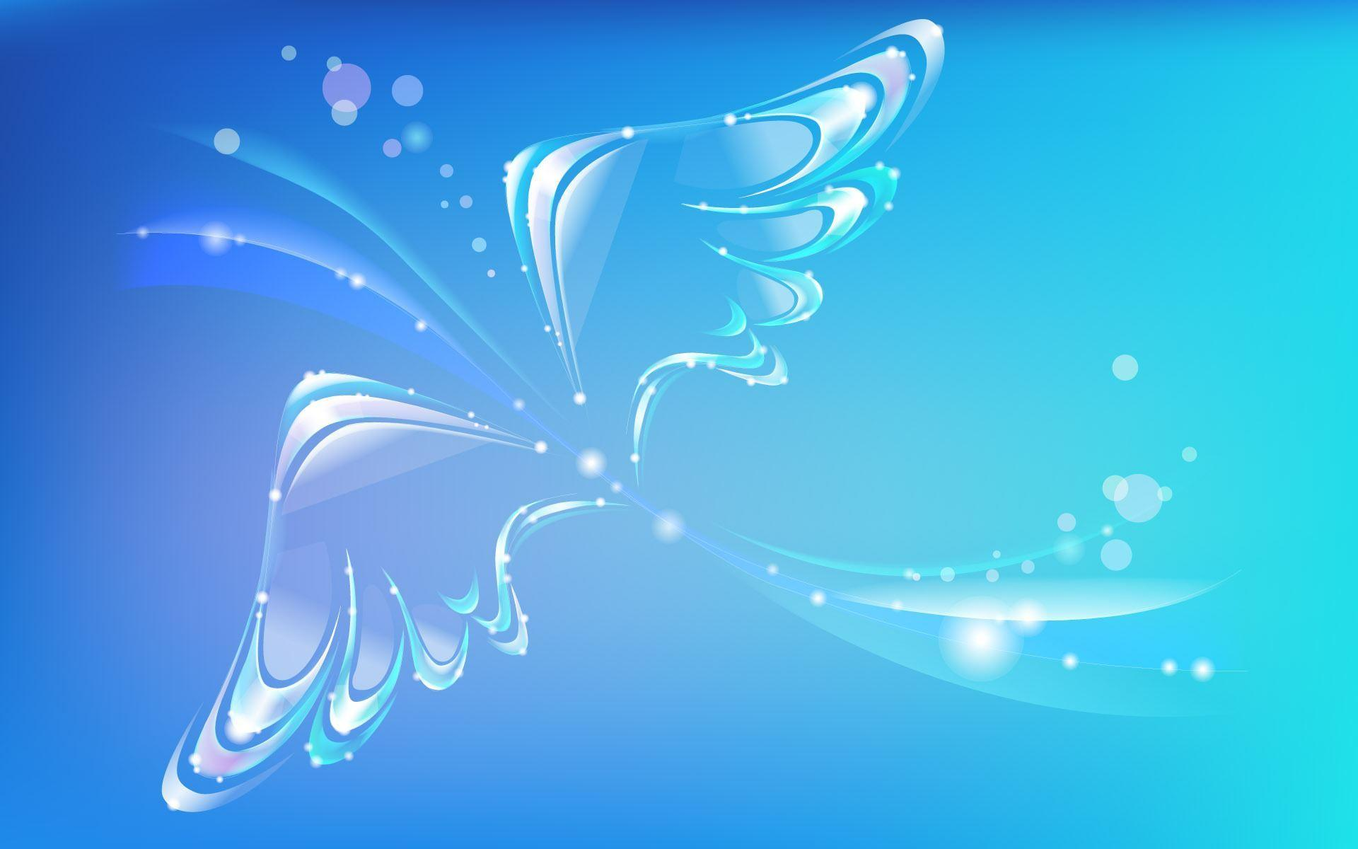 butterfly blue abstract wallpaper - photo #2