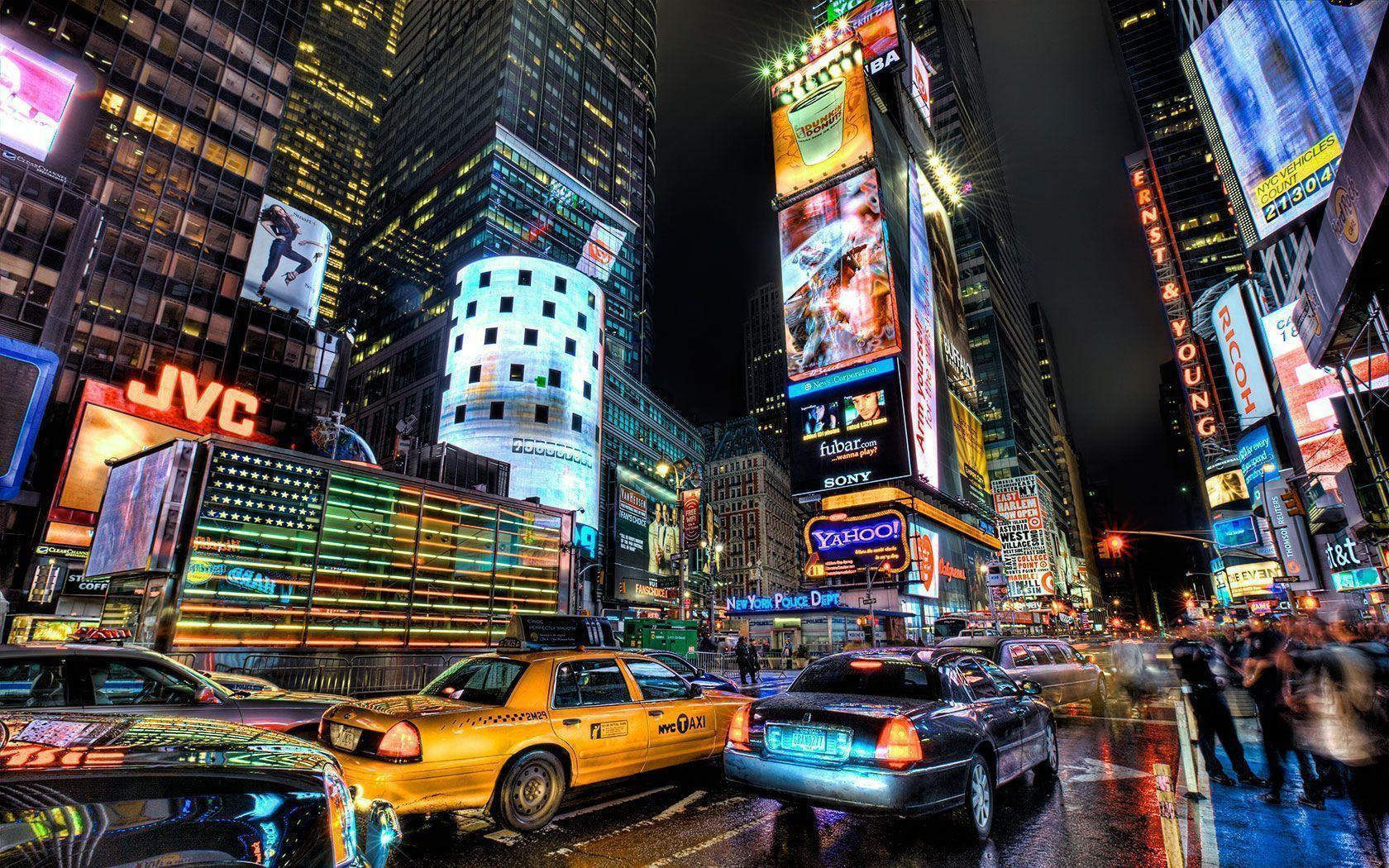 Times Square Night - Cities Wallpapers
