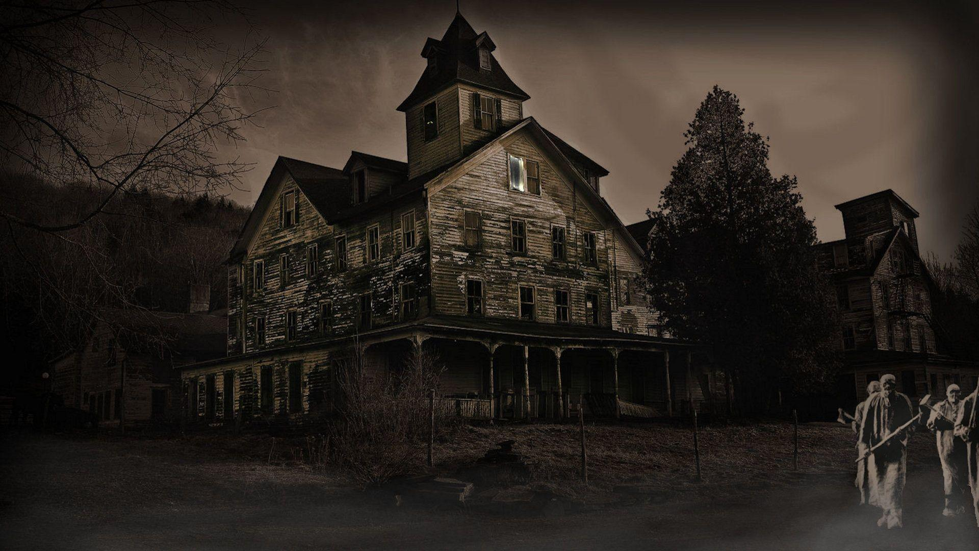 Haunted house wallpapers desktop wallpaper cave for Classic house wallpaper