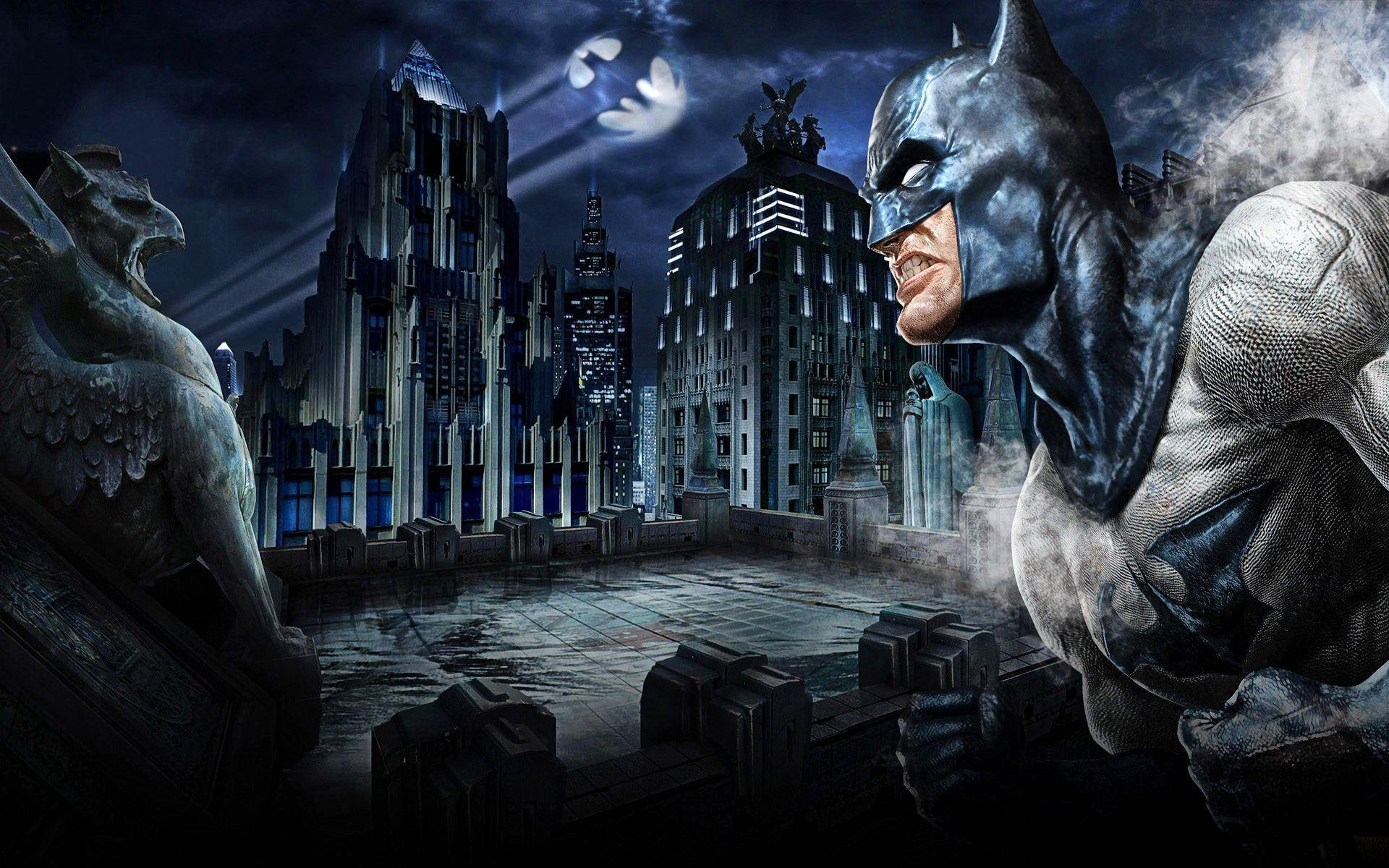 Batman Gotham City Background Wallpaper 26969 Hi-Resolution | Best ...