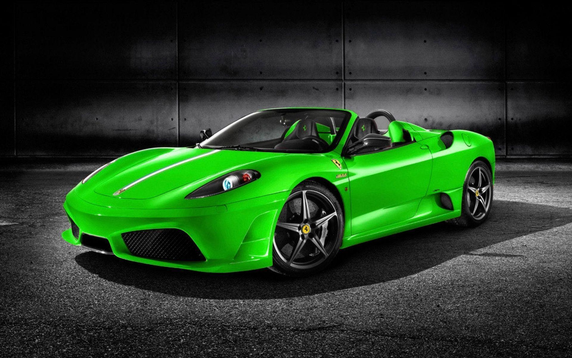 wallpaper green ferrari cars - photo #13