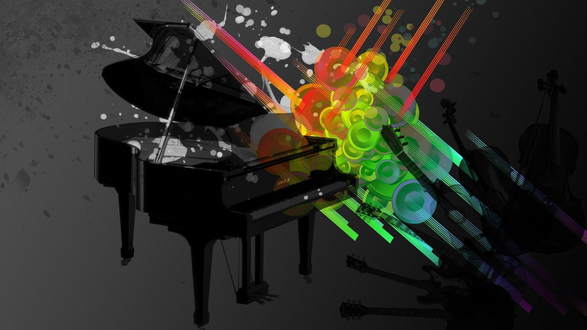 abstract piano art wallpaper - photo #5