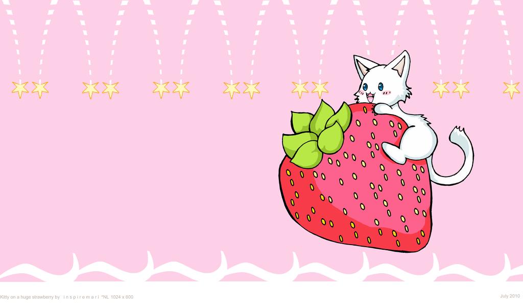 kawaii strawberry wallpaper vintage - photo #32
