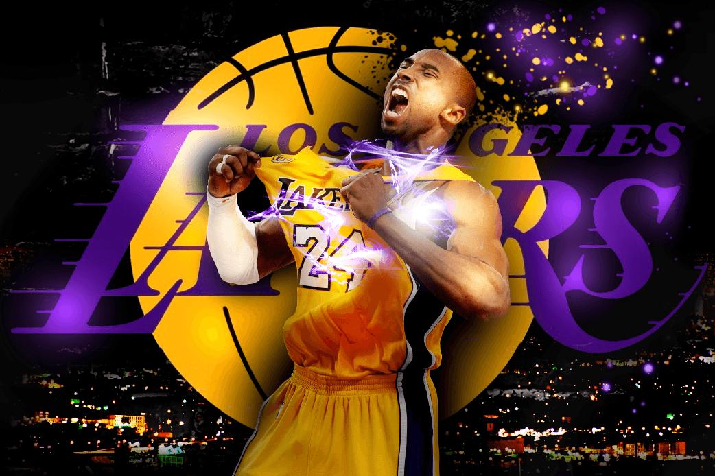 Kobe Bryant Wallpaper/Sig/LA Lakers (pic)