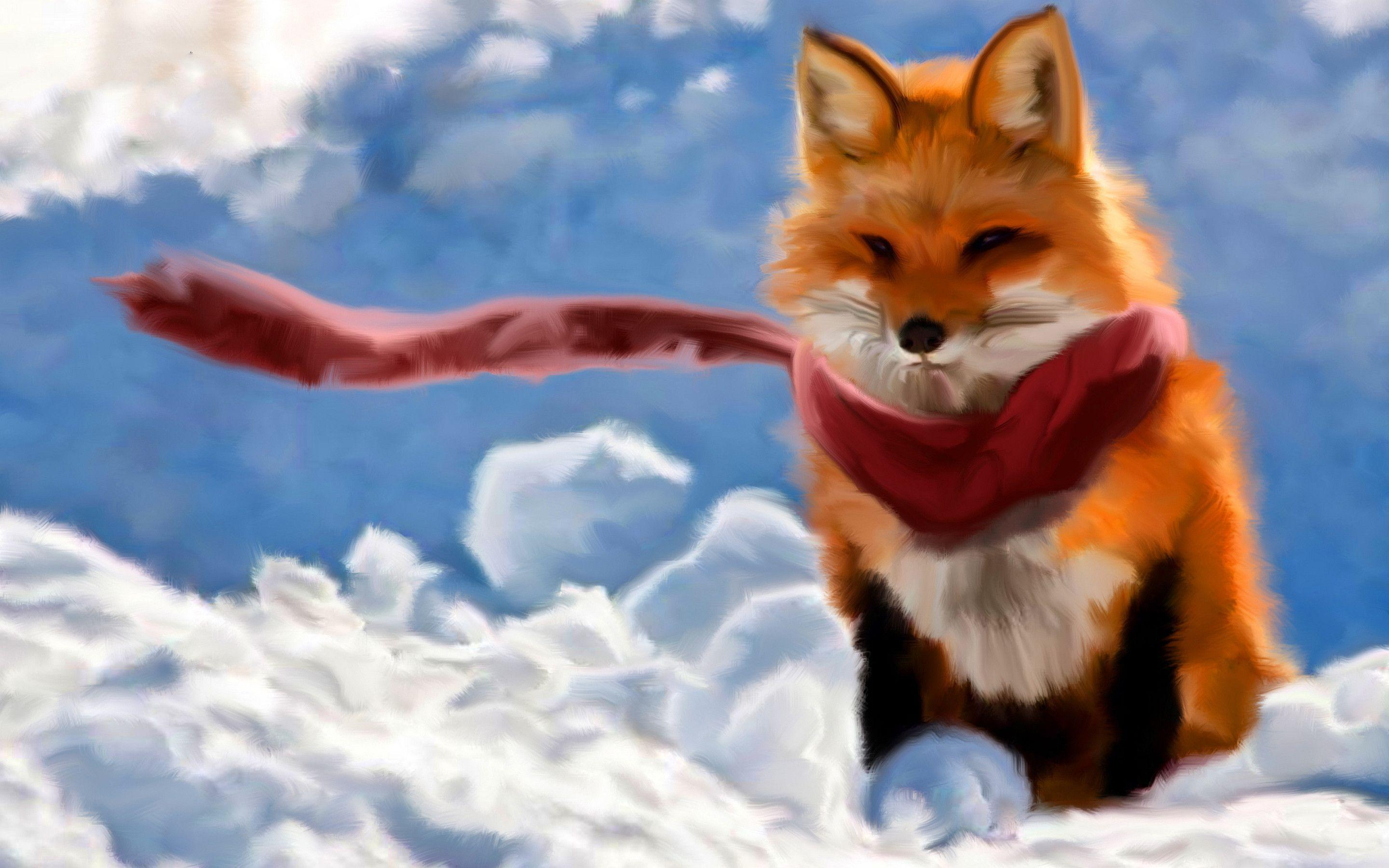 Red fox paint Wallpapers | Pictures