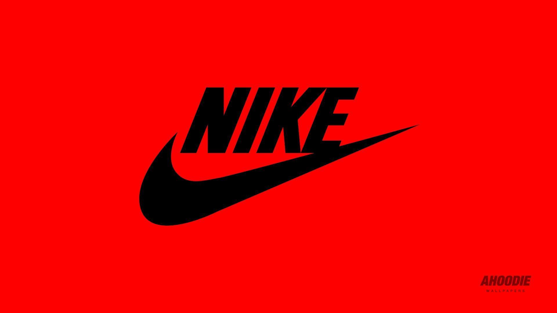 Nike logo red wallpaper