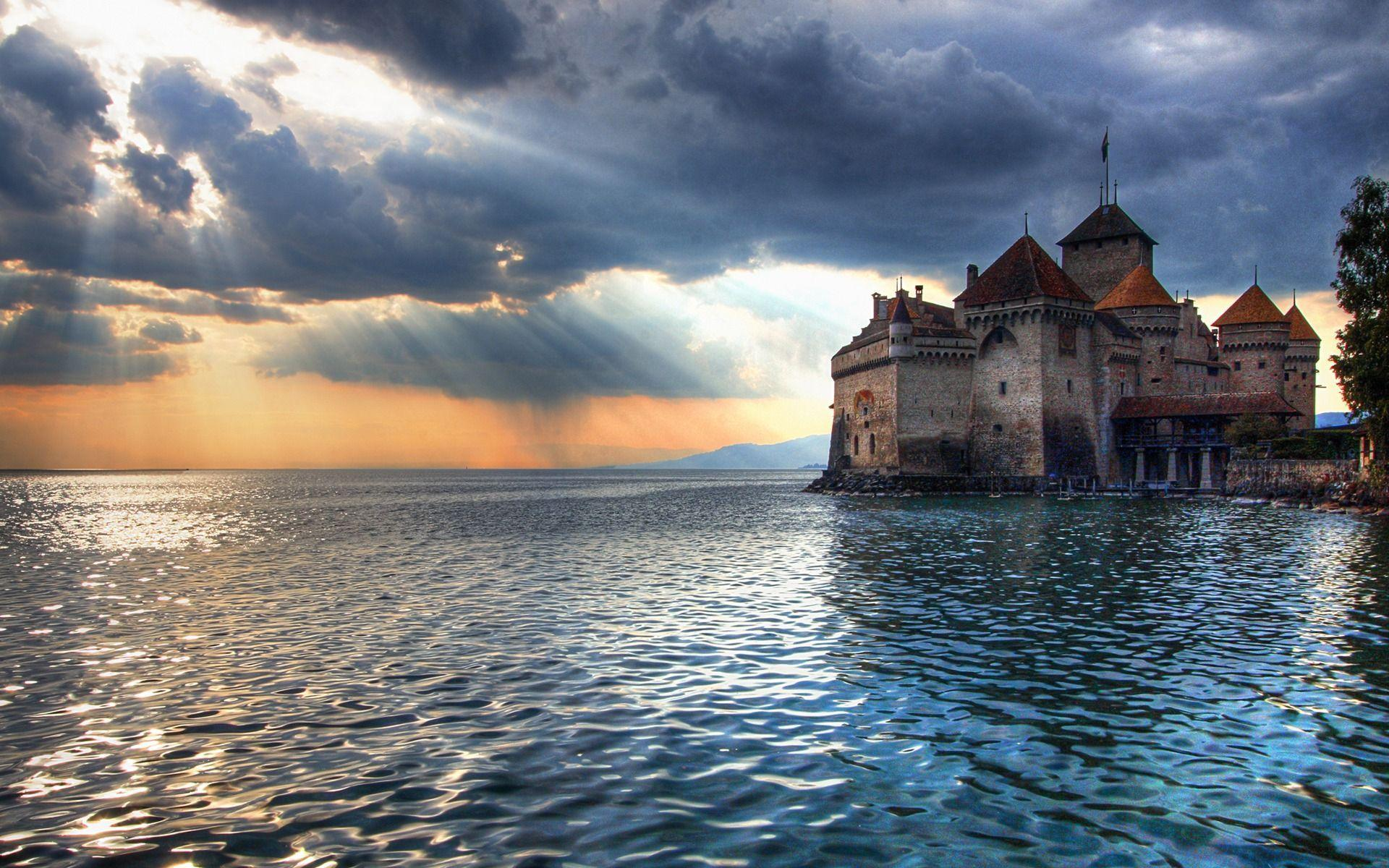 Chillon Castle Wallpaper Switzerland World