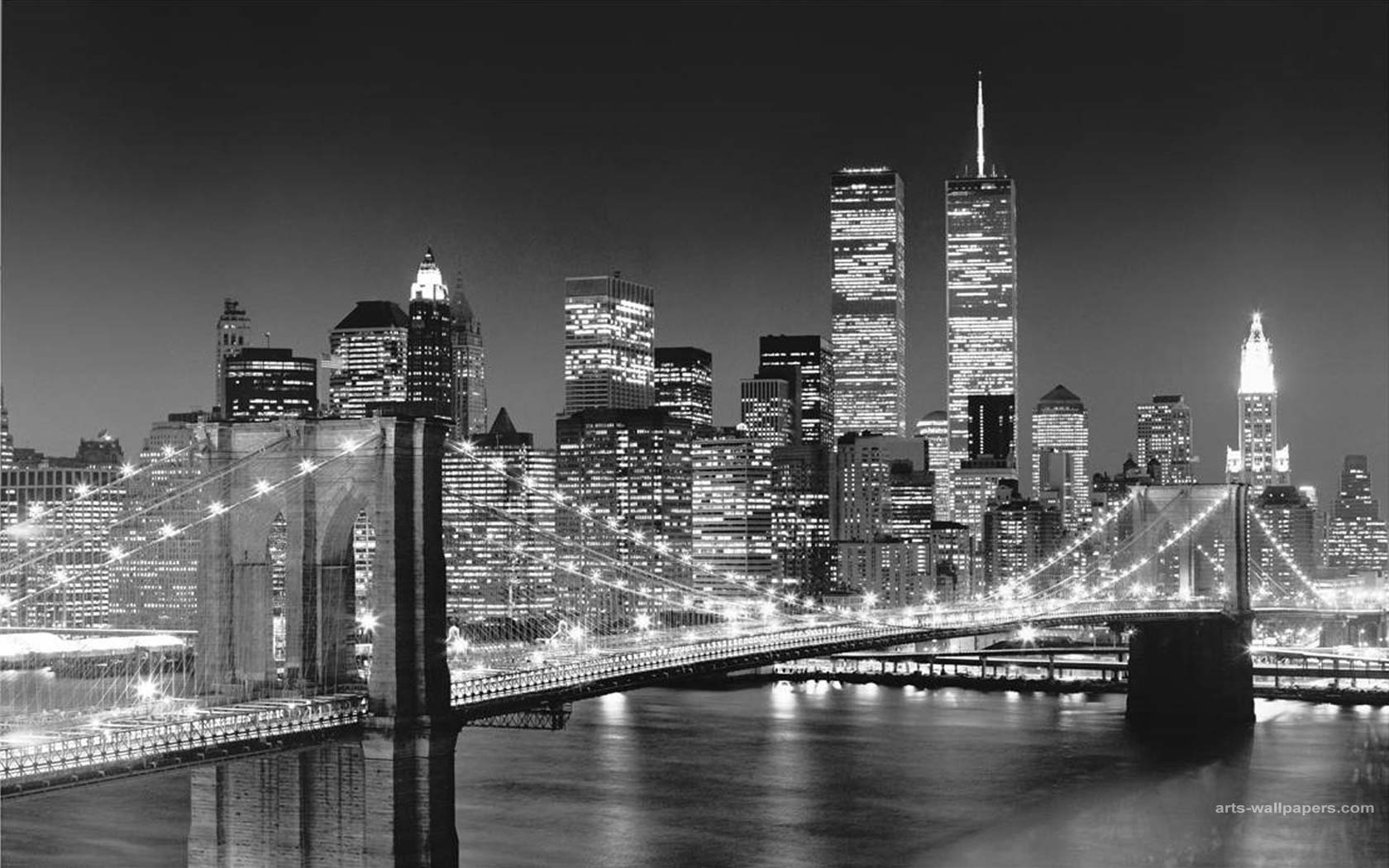 New york skyline wallpapers wallpaper cave for Black and white new york mural wallpaper