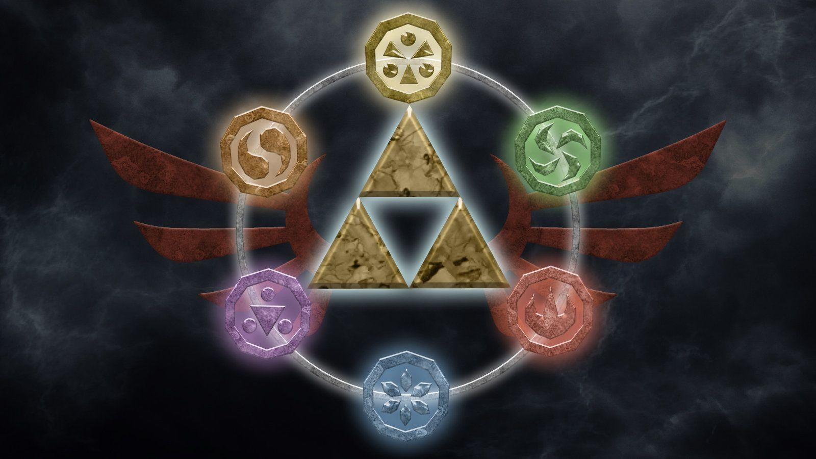 Wallpapers For > Legend Of Zelda Ocarina Of Time Triforce Wallpapers