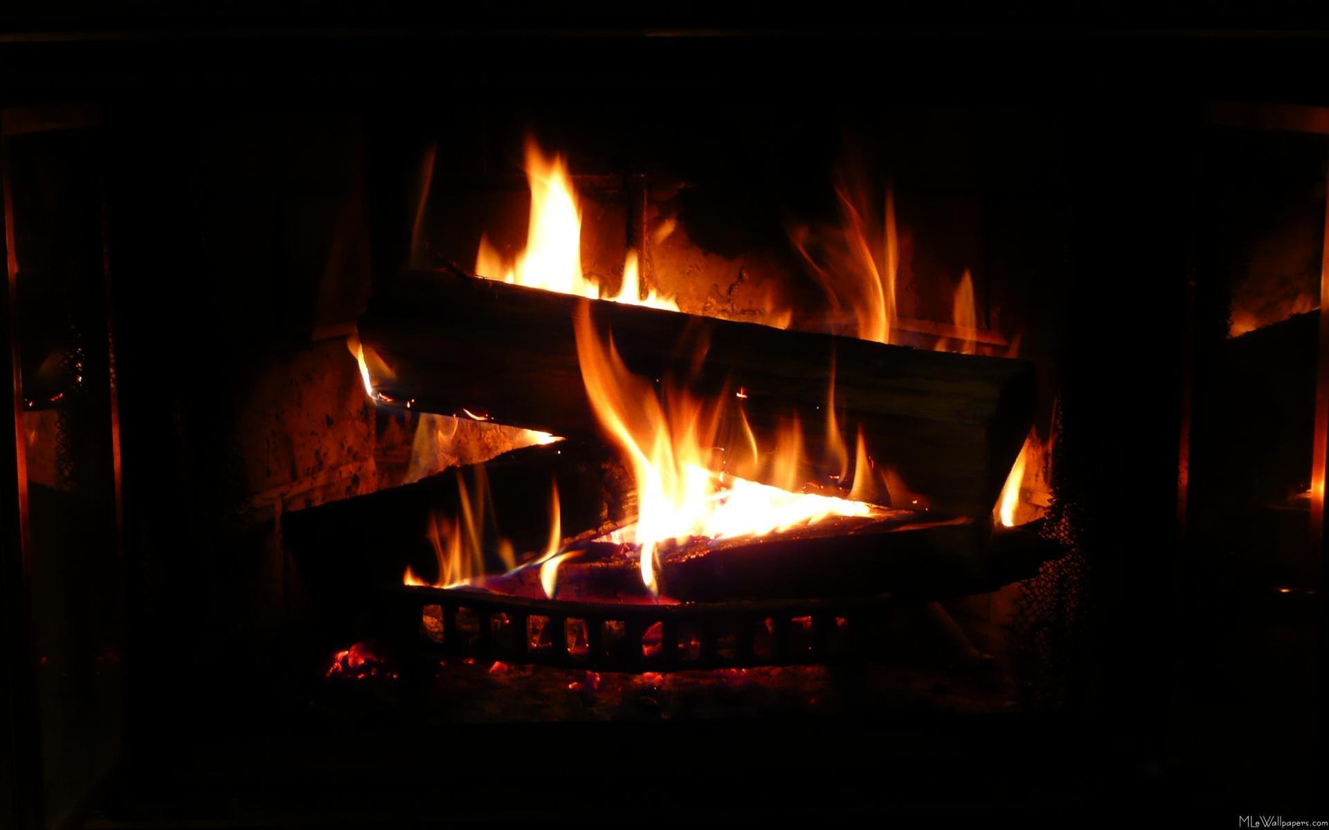 christmas fireplace wallpaper computer