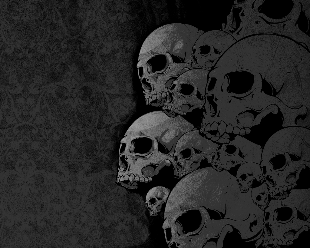 Black skull wallpapers wallpaper cave for Window palla design