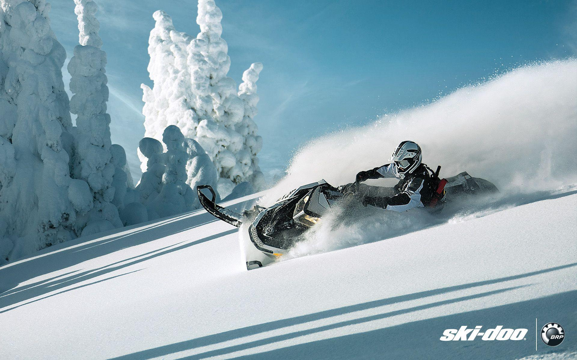 Snowmobiles Backcountry Backgrounds Arctic Cat